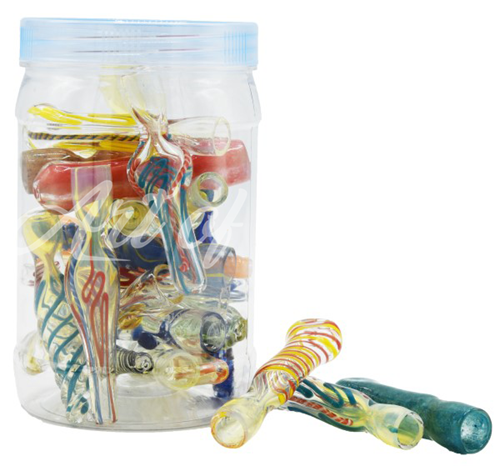 "Picture of 4"" - 24CT- MIX CHILLUM JAR"