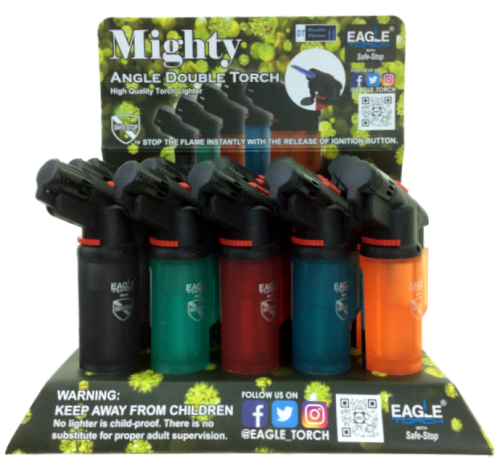 Picture of EAGLE DOUBLE FLAME 'MIGHTY' TORCH - 15ct DISPLAY