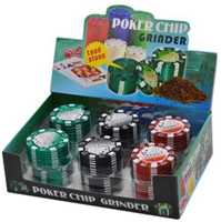 "Picture of 1.75"" 3 PART POKER CHIP GRINDER DISPLAY (12ct)"