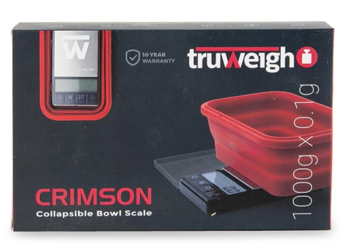 Picture of TRUWEIGH CRIMSON COLLAPSABLE BOWL SCALE (1000g x 0.1g)