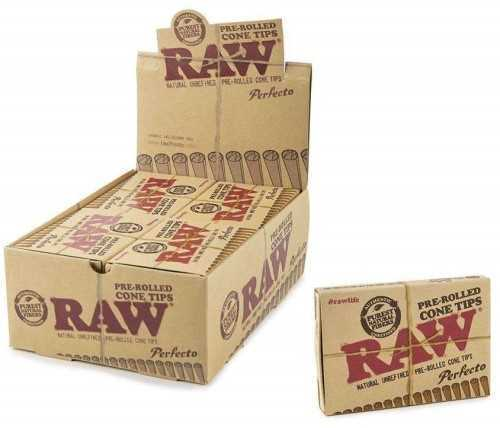 Picture of RAW PRE-ROLLED PERFECTO CONE TIPS 20ct