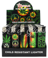 Picture of HOLOGRAPHIC LEAF LIGHTER (CHILD RESISTANT) 50CT DISPLAY