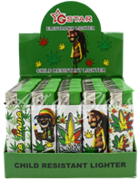 Picture of RASTA MAN LIGHTER (CHILD RESISTANT) 50CT DISPLAY