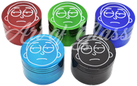 Picture of 50mm 4 PART COLORED SHORTY GRINDER (PRE-ASSORTED)