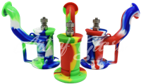 "Picture of 7"" SILICONE BUBBLER WITH METAL BOWL (MIXED COLORS)"