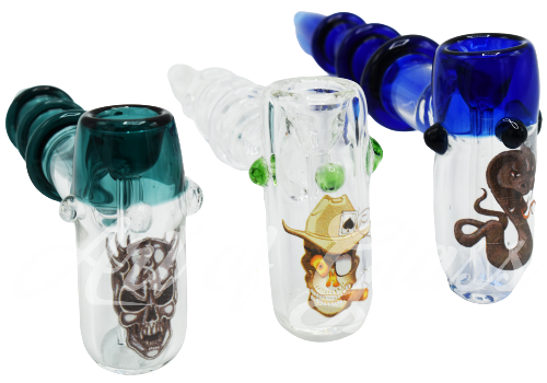 """Picture of 7"""" HAMMER BUBBLER w/ DESIGN"""