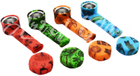 Picture of SILICONE HAND PIPE w/ CHARACTERS