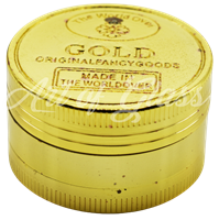 """Picture of 2"""" 3 PART GOLDEN COIN GRINDER - SINGLE"""