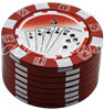 """Picture of 1.75"""" 3 PART POKER CHIP GRINDER - SINGLE"""