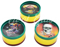 """Picture of 2"""" 3 PART HOLO SKULL GRINDER - SINGLE"""