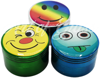 """Picture of 2.5"""" 4 PART COLORED FACE DESIGN GRINDER"""