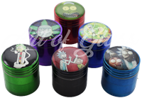 """Picture of 4 PART TINY RICK & MORTY GRINDER 1.25"""""""