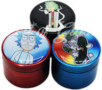 """Picture of 4 PART SMALL RICK & MORTY GRINDER 1.75"""""""