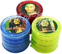 Picture of 5 PART PLASTIC GRINDER BOB MARLEY 2.5""