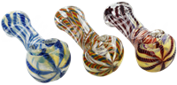 """Picture of 3"""" FUMED w/ COLORED LINES & FLAT MOUTH"""