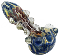 """Picture of 4"""" HEAVY FUMED w/ MARBLED HEAD & MARBLES"""