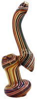 """Picture of 7"""" COLORED SPIRALED LINES BUBBLER"""