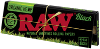 "Picture of RAW BLACK ORGANIC HEMP 1¼"" ROLLING PAPERS"