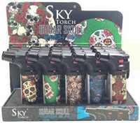 "Picture of SKY 4"" SUGAR SKULL SIDE-TORCH (15CT)"