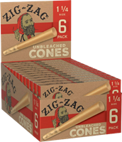 """Picture of ZIG-ZAG 1-1/4"""" UNBLEACHED CONES (6pk/24ct)"""