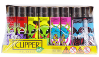 Picture of PSYCHEDELIC CLIPPER LIGHTERS 48ct