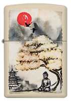 Picture of PAGODA BONSAI BUDDHA ZIPPO LIGHTER