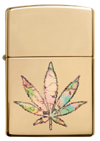 Picture of POT LEAF FUSION DESIGN ZIPPO LIGHTER