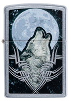Picture of HOWLING WOLF DESIGN ZIPPO LIGHTER
