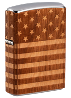 Picture of WOODCHUCK USA AMERICAN FLAG WRAP ZIPPO LIGHTER