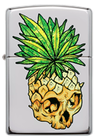 Picture of LEAF SKULL PINEAPPLE ZIPPO LIGHTER