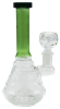 """Picture of 8"""" COLORED STRAIGHT NECK BEAKER w/ RIDGES"""