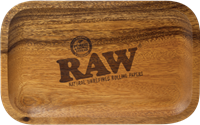 """Picture of RAW WOODEN ROLLING TRAY (7"""" x 11"""")"""