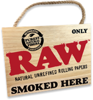 "Picture of ""ONLY RAW SMOKED HERE"" SIGN"