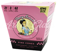 Picture of BLAZY SUSAN KING SIZE SLIM PINK PAPER CONES - 21ct
