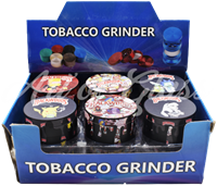 Picture of 63mm ASSORTED CHARACTERS BACKWOODS GRINDER - 12ct DISPLAY