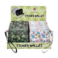 Picture of LEAF DESIGN WALLET WITH HAND STRAP - 18ct DISPLAY