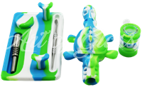 Picture of SILICONE TURTLE WATER PIPE & NECTAR COLLECTOR w/ STAND