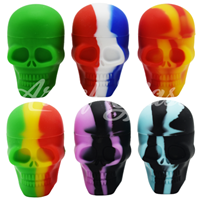 "Picture of 2"" SILICONE SKULL CONTAINER"