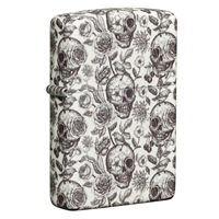 Picture of GLOW IN THE DARK SKELETON DESIGN ZIPPO LIGHTER