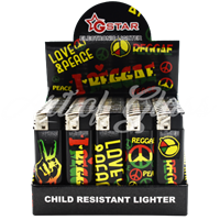 Picture of REGGAE LIGHTER (CHILD RESISTANT) 50CT DISPLAY