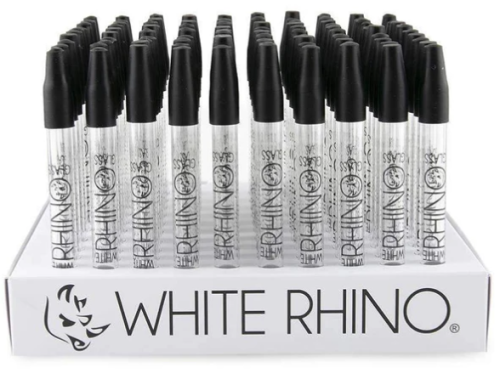 Picture of WHITE RHINO 100ct GLASS PYREX STRAW DISPLAY
