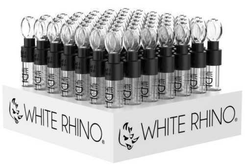Picture of WHITE RHINO 49ct GLASS BLUNT DISPLAY