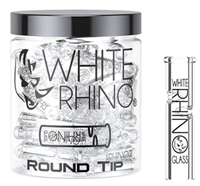 Picture of WHITE RHINO 100ct ROUND GLASS TIPS