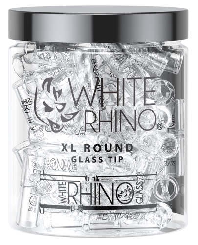 Picture of WHITE RHINO 80ct XL ROUND GLASS TIPS