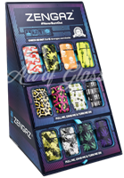 Picture of ZENGAZ LIGHTERS 48ct CUBE DISPLAY - PRINTS