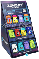 Picture of ZENGAZ LIGHTERS 48ct CUBE DISPLAY - STICKERS