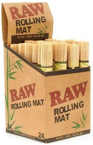 Picture of RAW NATURAL BAMBOO ROLLING MAT - 24ct DISPLAY