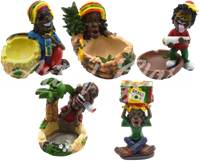 "Picture of 5"" POLYRESIN RASTAFARIAN ASH TRAYS"