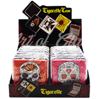 Picture of 80mm CIGARETTE CASE (12ct DISPLAY) - SUGAR SKULLS