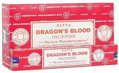 Picture of SATYA DRAGON'S BLOOD INCENSE STICKS 12pk 15g